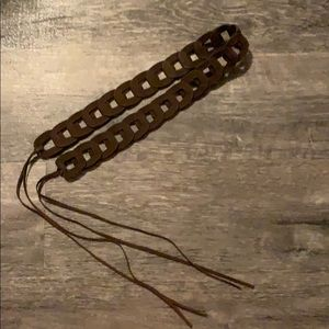 Suede/Leather Tie Belt